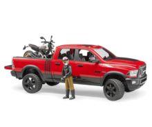 BRUDER 1:16 Todoterreno RAM 2500 con moto DUCATI y conductor - Ítem2