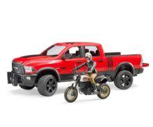 BRUDER 1:16 Todoterreno RAM 2500 con moto DUCATI y conductor - Ítem3