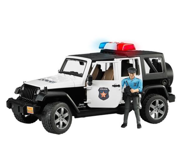 Todoterreno de juguete JEEP Wrangler Unlimited con policia