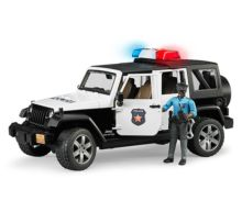 Todoterreno JEEP Wrangler Unlimited Rubicon con 1 policia Bruder 02527 - Ítem3