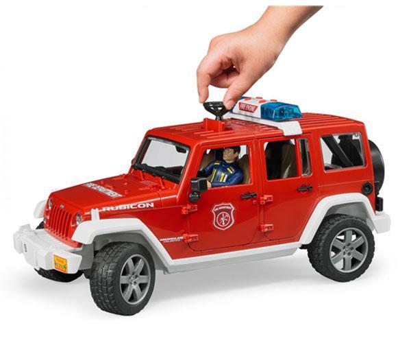 Todoterreno de juguete JEEP WRANGLER Unlimited Rubicon con bombero Bruder 02528 - Ítem3