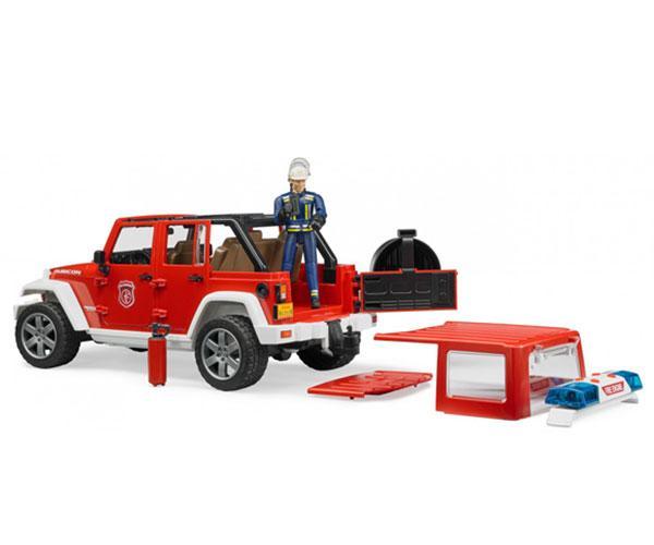 Todoterreno de juguete JEEP WRANGLER Unlimited Rubicon con bombero Bruder 02528 - Ítem4