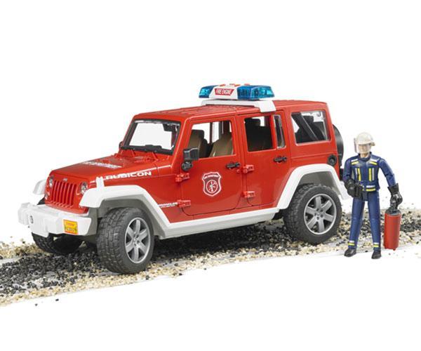 Todoterreno de juguete JEEP WRANGLER Unlimited Rubicon con bombero Bruder 02528 - Ítem6