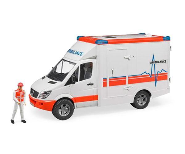 Ambulancia de juguete MERCEDES BENZ con conductor Bruder 2536