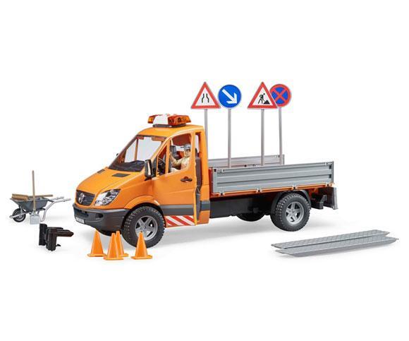 BRUDER 1:16 Camioneta de juguete MERCEDES BENZ Sprinter con trabajador y accesorios - Ítem2