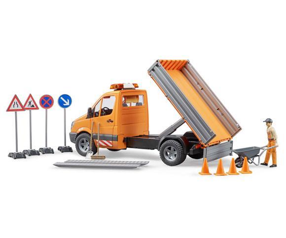 BRUDER 1:16 Camioneta de juguete MERCEDES BENZ Sprinter con trabajador y accesorios - Ítem3