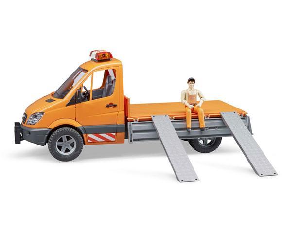 BRUDER 1:16 Camioneta de juguete MERCEDES BENZ Sprinter con trabajador y accesorios - Ítem4