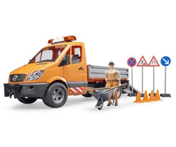 BRUDER 1:16 Camioneta de juguete MERCEDES BENZ Sprinter con trabajador y accesorios