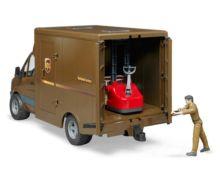 BRUDER 1:16 Furgón de juguete MERCEDES BENZ Sprinter UPS con conductor y accesorios - Ítem1