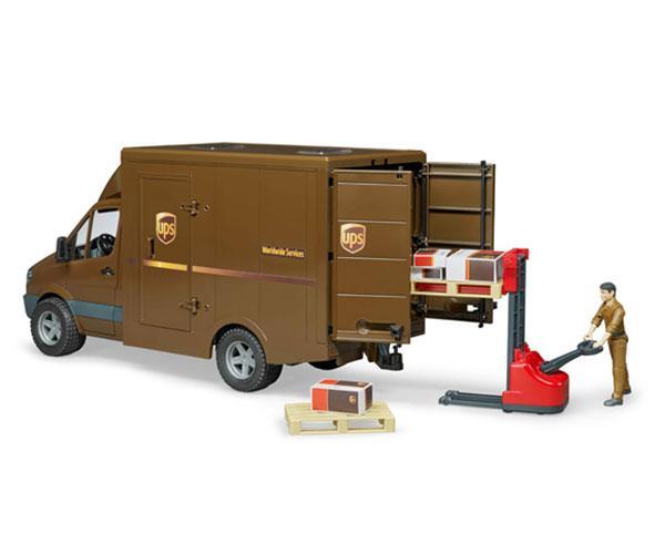 BRUDER 1:16 Furgón de juguete MERCEDES BENZ Sprinter UPS con conductor y accesorios - Ítem2