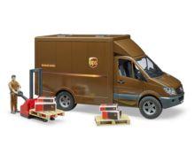 BRUDER 1:16 Furgón de juguete MERCEDES BENZ Sprinter UPS con conductor y accesorios - Ítem4