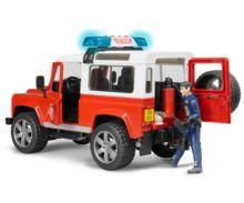 Todoterreno de juguete LAND ROVER DEFENDER con 1 bombero Bruder 02596 - Ítem2