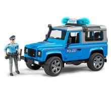 Todoterreno de juguete LAND ROVER Defender con policia Bruder 02597 - Ítem1
