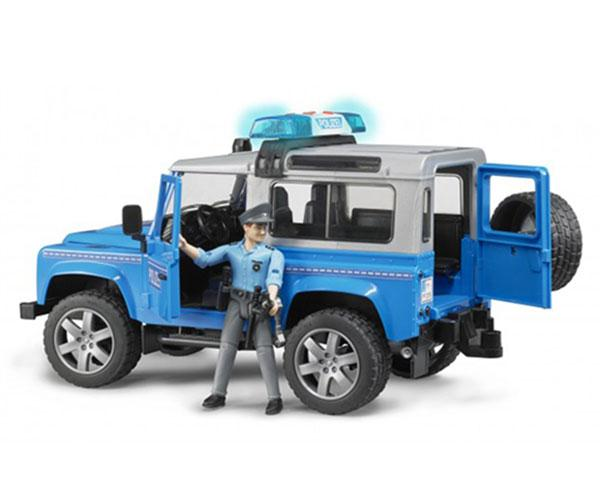 Todoterreno de juguete LAND ROVER Defender con policia Bruder 02597 - Ítem2