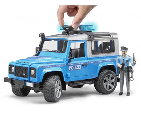 Todoterreno de juguete LAND ROVER Defender con policia Bruder 02597 - Ítem3