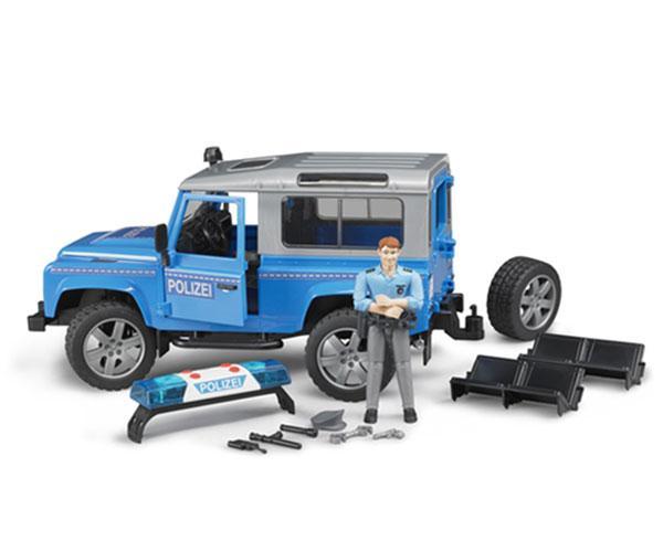 Todoterreno de juguete LAND ROVER Defender con policia Bruder 02597 - Ítem4