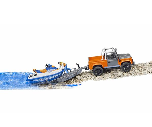 BRUDER 1:16 Todoterreno LAND ROVER Defender con moto acuática y piloto - Ítem4