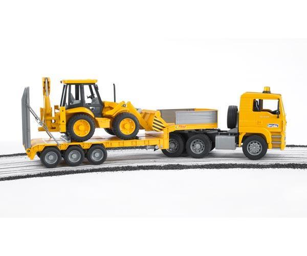 camion man tga 410 a con gondola fliegl y excavadora jcb 4cx - Ítem4