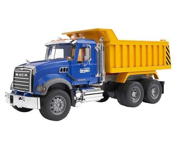 Camión de juguete MACK Granite con remolque basculante