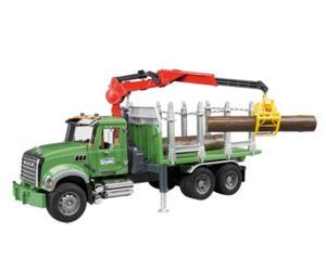 Camion forestal de juguete MACK Granite con 3 troncos