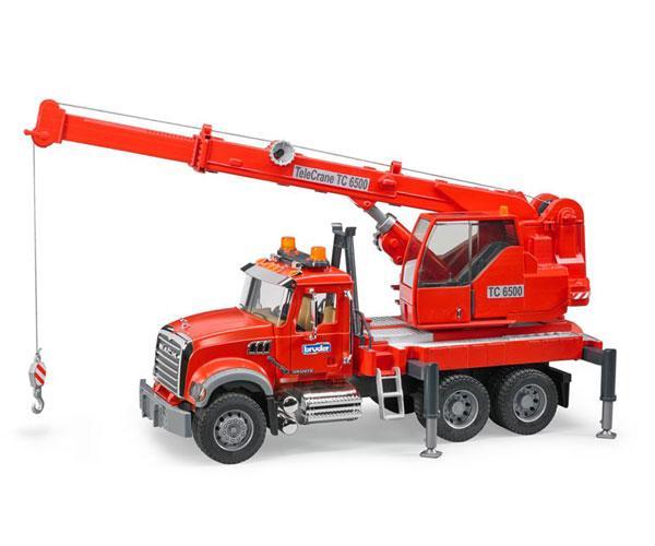 Camión grua de juguete MACK Granite con luces y sonido Bruder 02826 - Ítem1