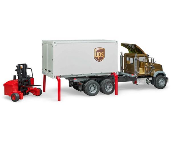 BRUDER 1:16 Camión MACK Granite UPS con carretilla elevadora - Ítem2