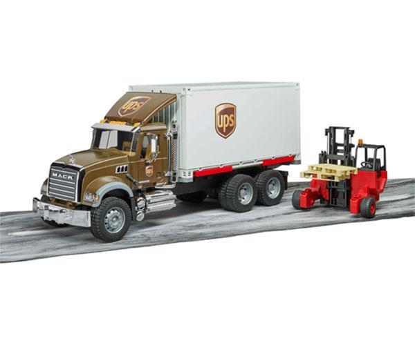 BRUDER 1:16 Camión MACK Granite UPS con carretilla elevadora - Ítem3