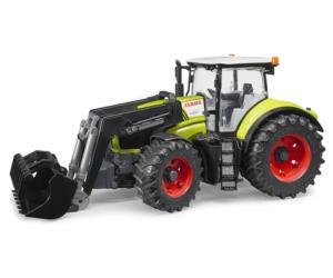 Tractor de juguete CLAAS Axion 950 con pala Bruder 03013