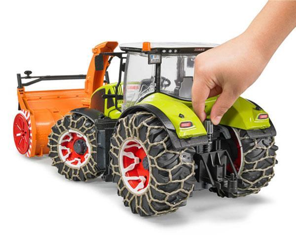 Tractor de juguete CLAAS Axion 950 con cadenas de nieves y sopladora Bruder 03017 - Ítem3