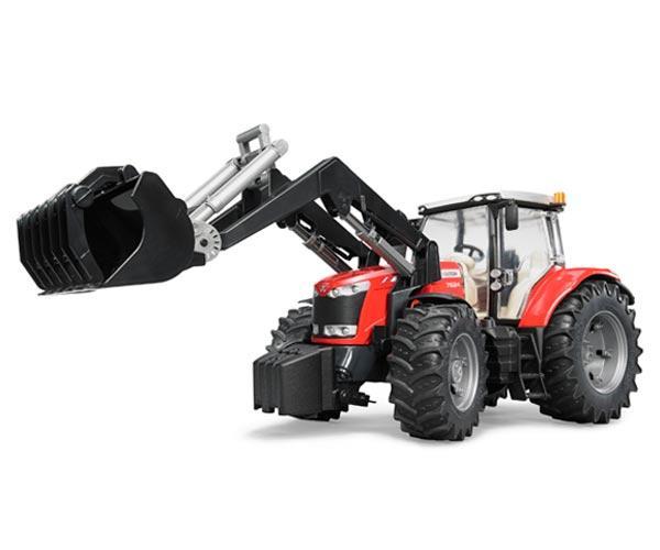 Tractor de juguete MASSEY FERGUSON con pala - Ítem1