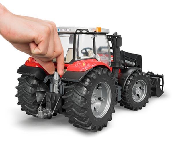 Tractor de juguete MASSEY FERGUSON con pala - Ítem4
