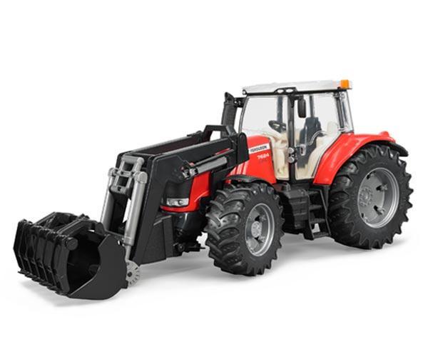 Tractor de juguete MASSEY FERGUSON con pala