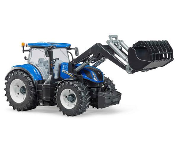 BRUDER 1:16 Tractor de juguete NEW HOLLAND T7.315 con pala - Ítem1