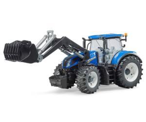 BRUDER 1:16 Tractor de juguete NEW HOLLAND T7.315 con pala