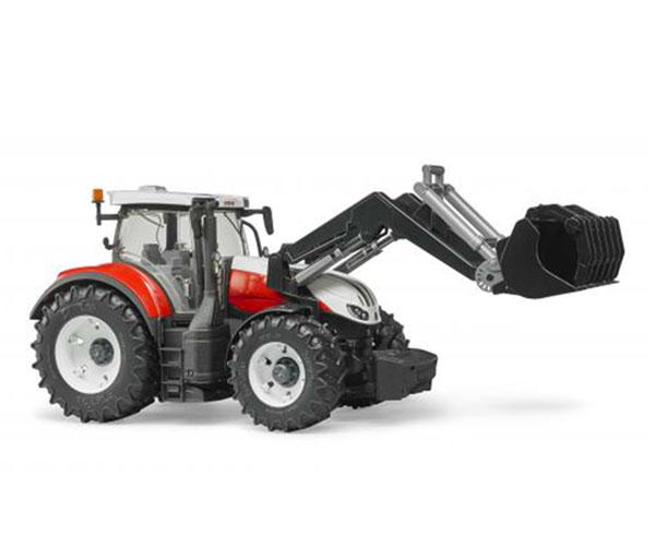 Tractor de juguete STEYR 6300 Terrus con pala Bruder 3181 - Ítem1