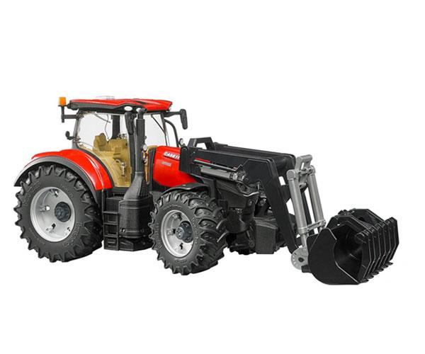 Tractor de juguete CASE IH Optum 300 CVX con pala Bruder 3191 - Ítem1