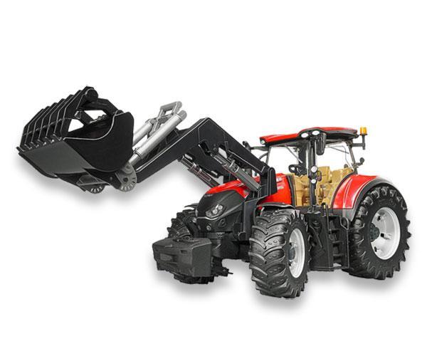 Tractor de juguete CASE IH Optum 300 CVX con pala Bruder 3191