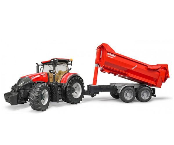 Tractor de juguete CASE IH Optum 300 CVX con remolque KRAMPE Bruder 03199 - Ítem1