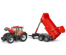 Tractor de juguete CASE IH Optum 300 CVX con remolque KRAMPE Bruder 03199 - Ítem2