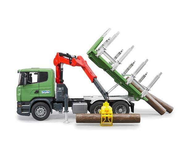 BRUDER 1:16 Camion forestal de juguete SCANIA Serie R con tres troncos - Ítem3