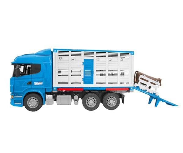 BRUDER 1:16 Camión de juguete SCANIA serie-R transporte de ganado - Ítem1