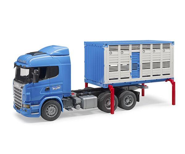 BRUDER 1:16 Camión de juguete SCANIA serie-R transporte de ganado - Ítem3
