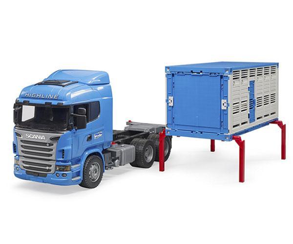 BRUDER 1:16 Camión de juguete SCANIA serie-R transporte de ganado - Ítem5