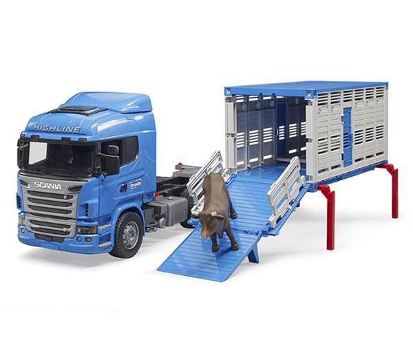 BRUDER 1:16 Camión de juguete SCANIA serie-R transporte de ganado - Ítem6