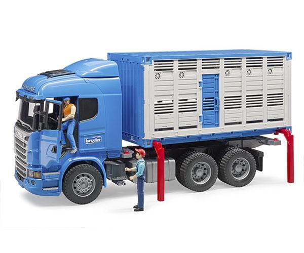 BRUDER 1:16 Camión de juguete SCANIA serie-R transporte de ganado - Ítem7