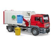BRUDER 1:16 Camión basura de juguete MAN con carga lateral - Ítem1