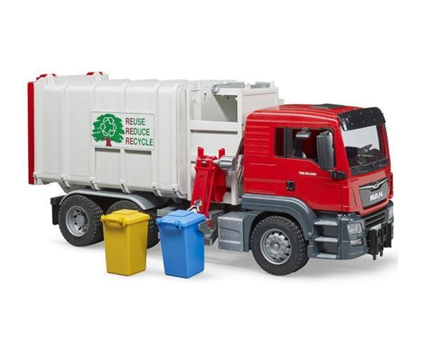 BRUDER 1:16 Camión basura de juguete MAN con carga lateral - Ítem2
