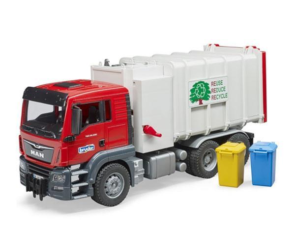 BRUDER 1:16 Camión basura de juguete MAN con carga lateral - Ítem3