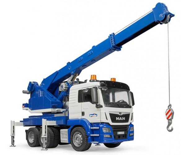 Camión grúa de juguete MAN TGS con luces y sonido Bruder 03770 - Ítem1