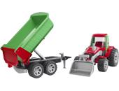 Tractor de juguete con pala y remolque - Ítem1
